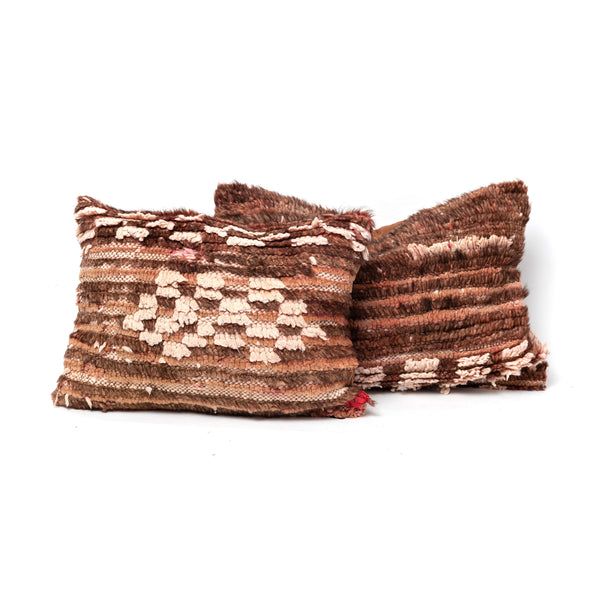 Pink & Brown Rug Pillow