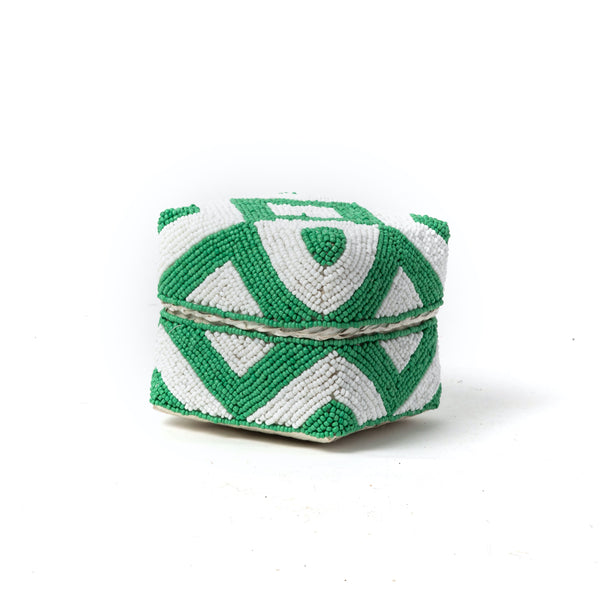 Green Beaded Box
