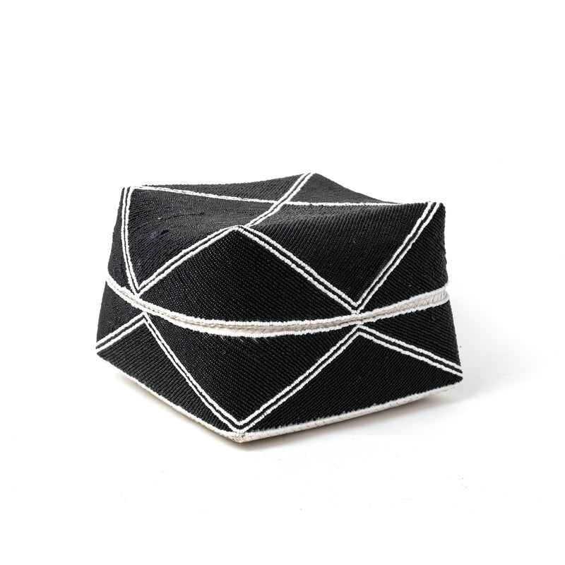 Black Modern Beaded Box