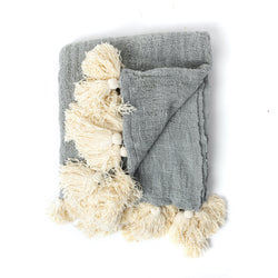 Light Grey Bali Throw