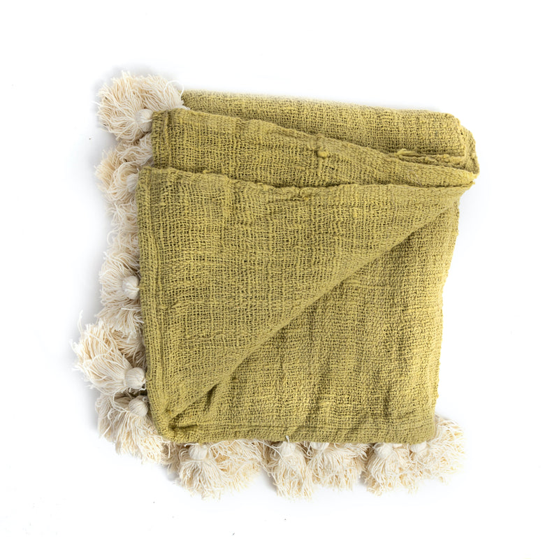 Chartreuse Bali Throw