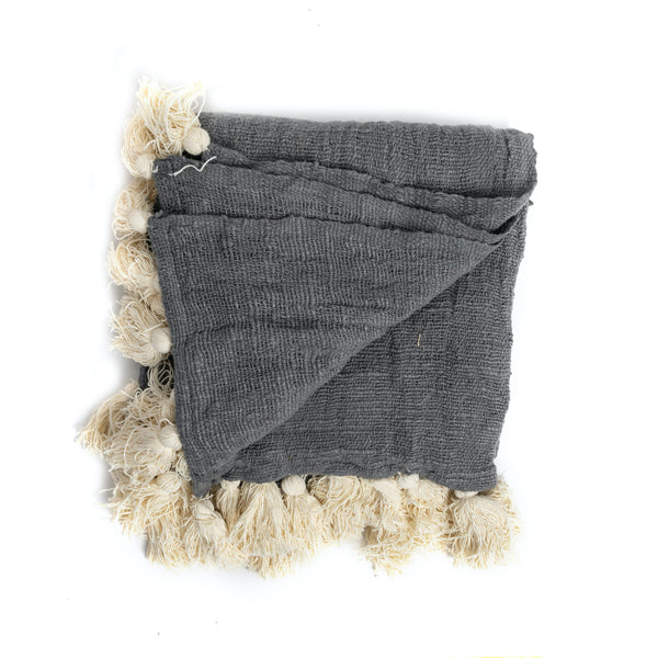 Grey Bali Throw