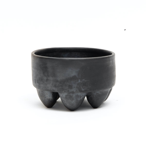 Black Uxmal Bowl - 6 Legged