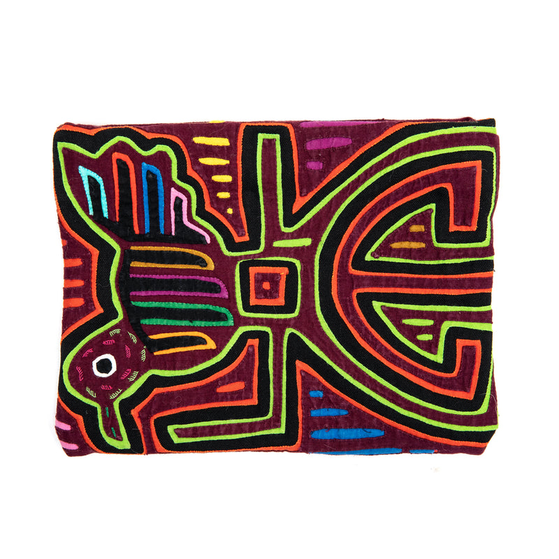 Maroon Bird Mola Clutch
