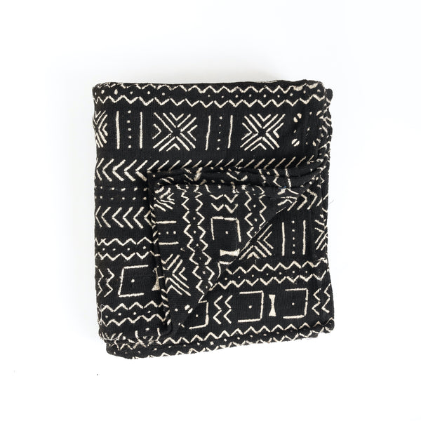 Black Mud Cloth Throw
