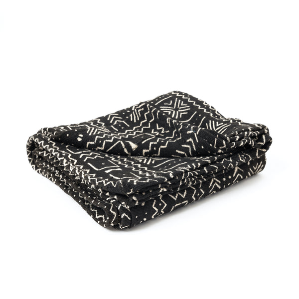 Black MudCloth Throw