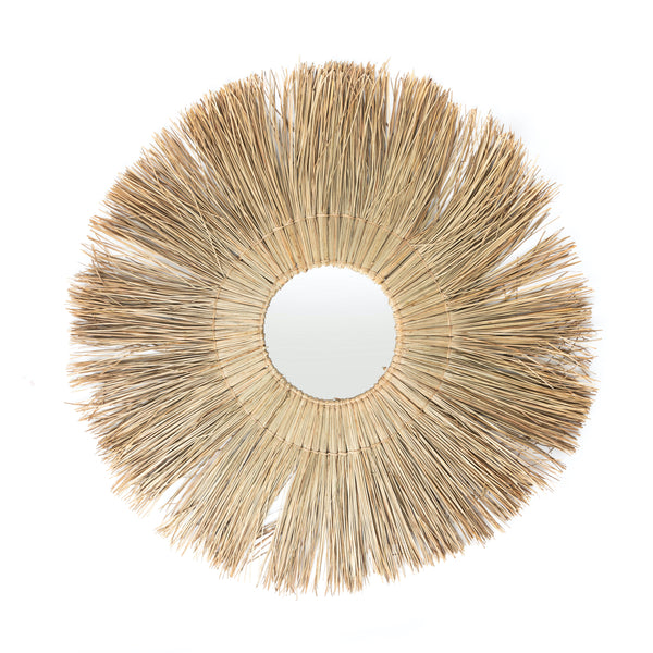 Medium Round Seagrass Mirror