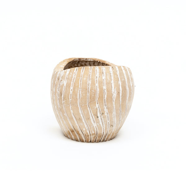 Carved Root Pot