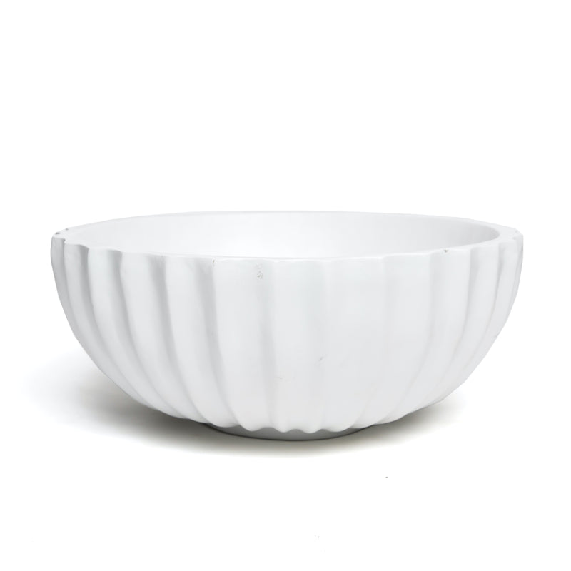 White Ripple Bowl