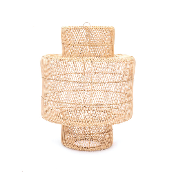 Natural Tiered Lamp