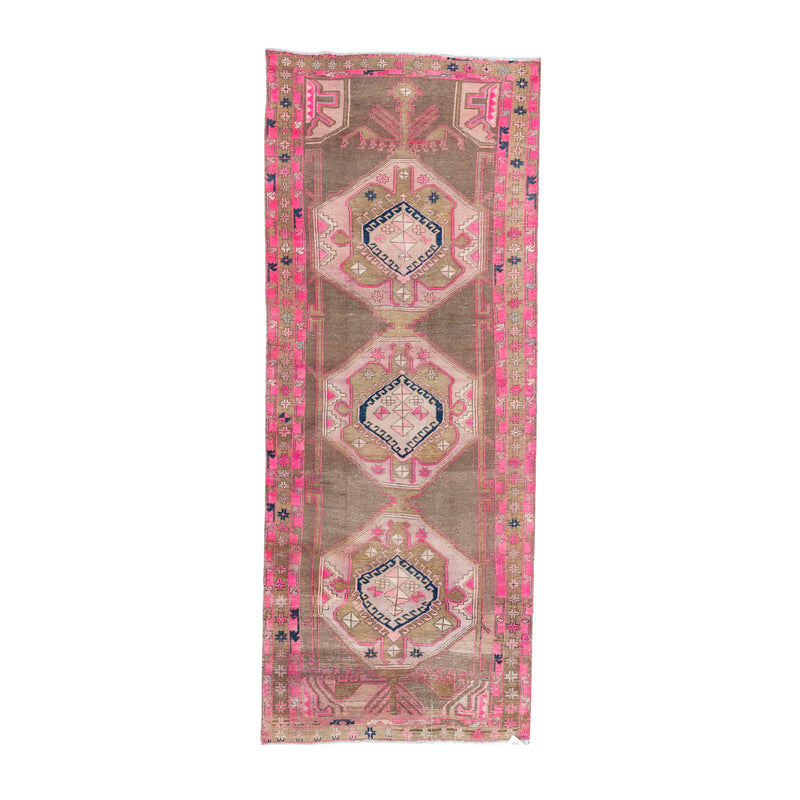 4' x 10' Vintage Pink Persian Area Rug