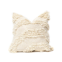 White Wool Square Pillow