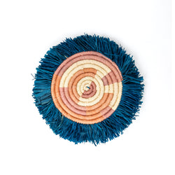 Fringe Raffia Coaster - Set of 4