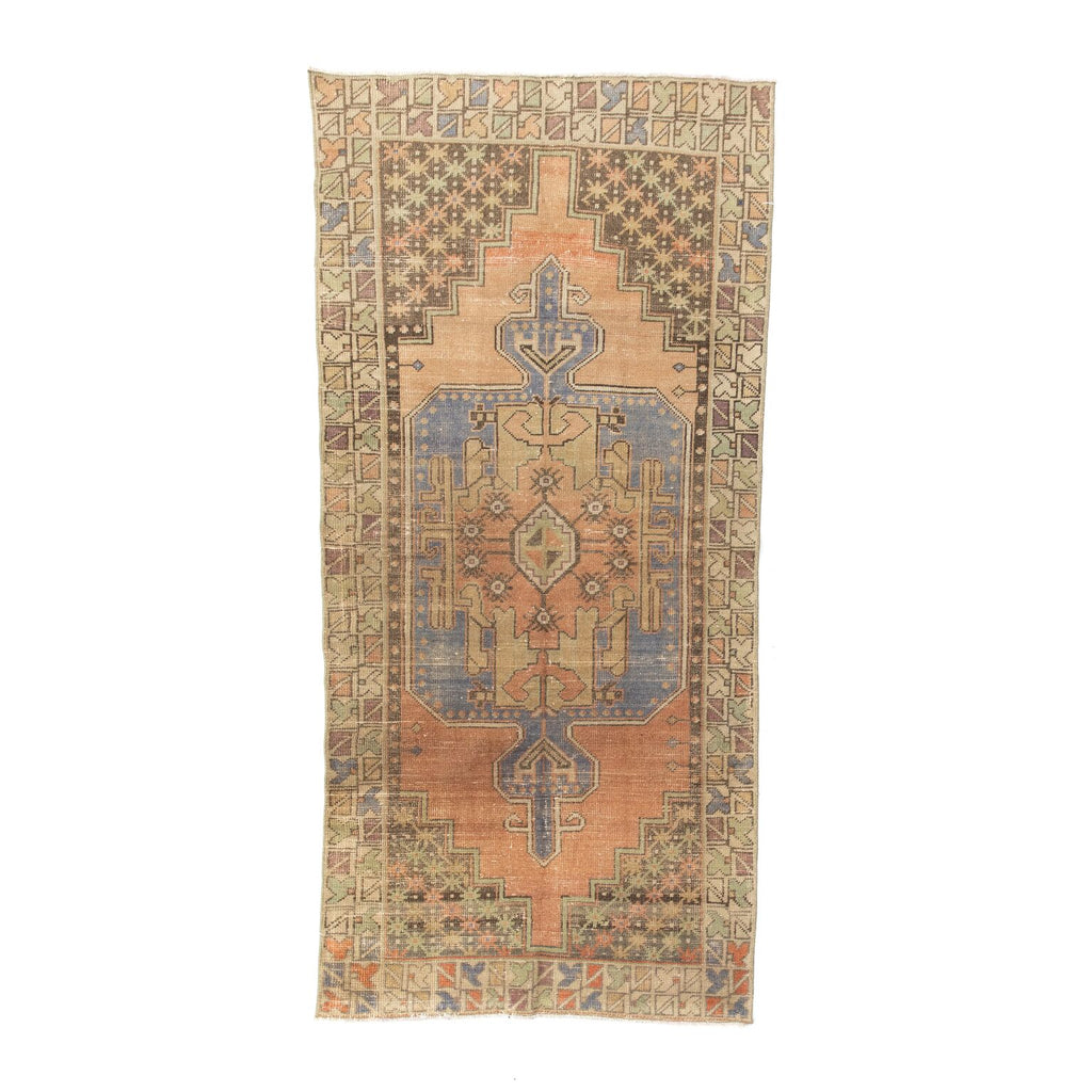 Brown & Raspberry Vintage Anatolian Rug