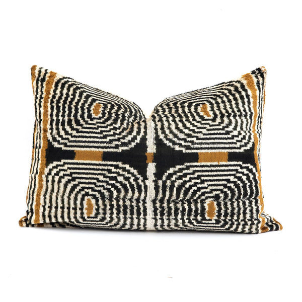 Retro Velvet/Silk Lumbar Pillow