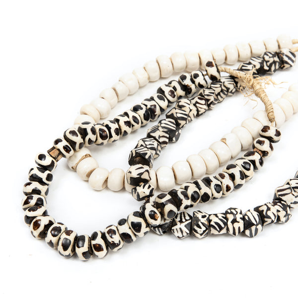 Round Pattern Bone Styling Beads