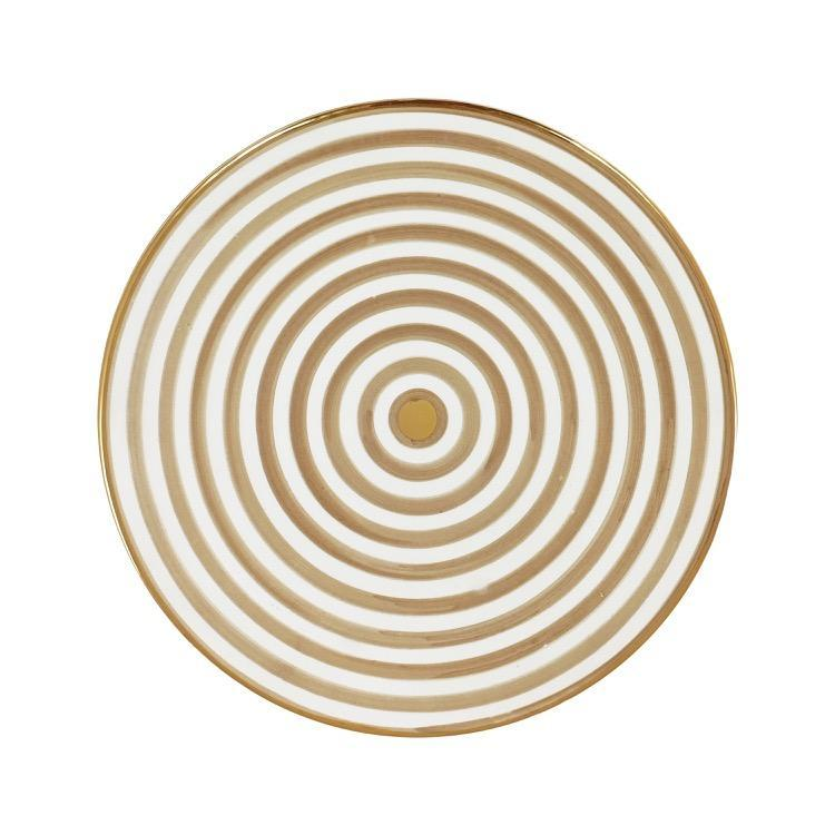 Gold Sand Stripe Plate - Set of 2