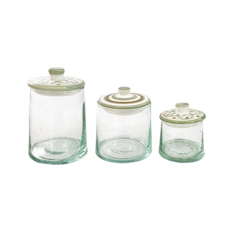 Mini Conic Glass Jar Set