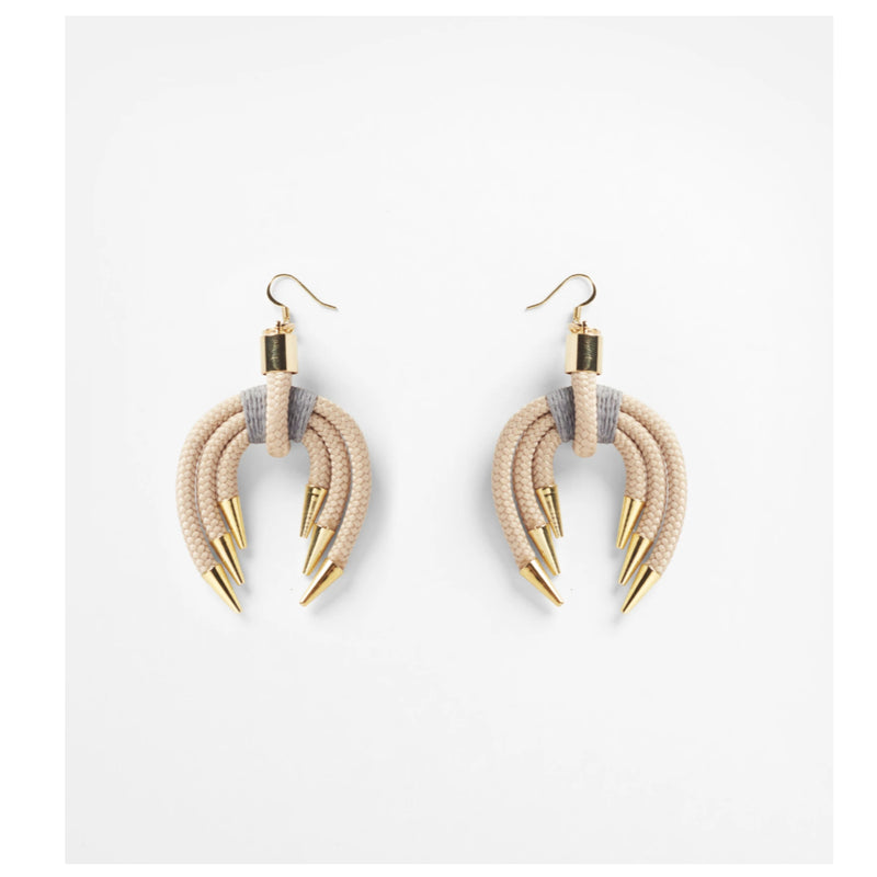 Beige Ark Earrings