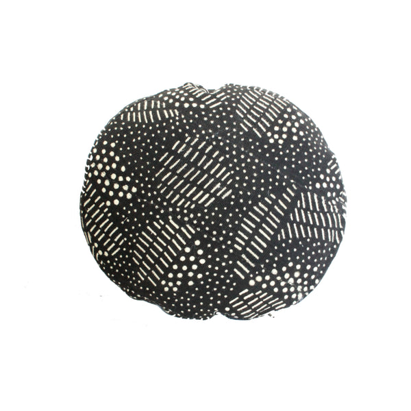Mixed Dots Round MudCloth Pillow