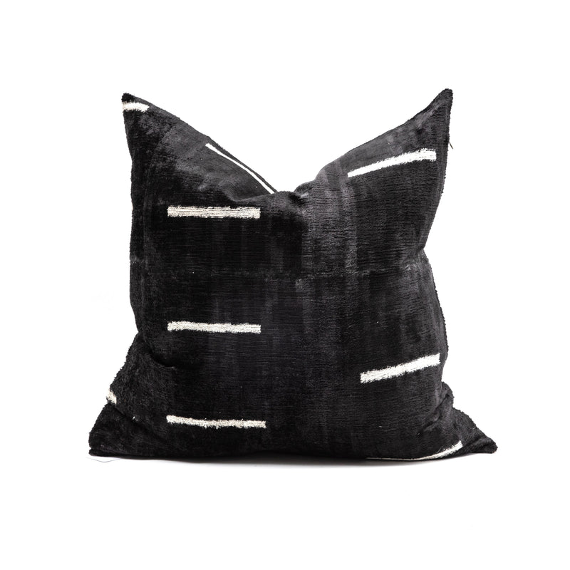 Dash Velvet/Silk Square Pillow