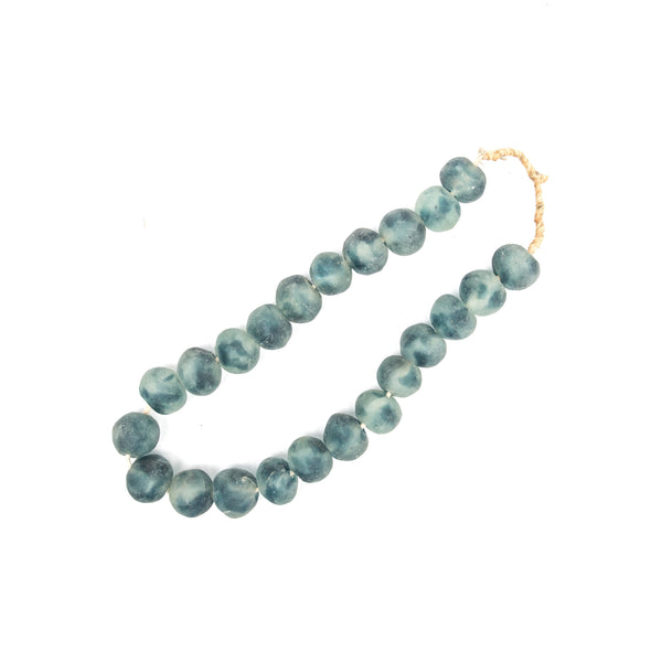 Large Blue Recycled Glass Styling Beads