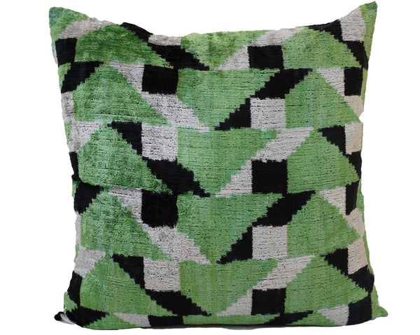 Forest Velvet/Silk Euro Pillow