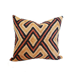 Dark Kuba Shoowa Square Pillow