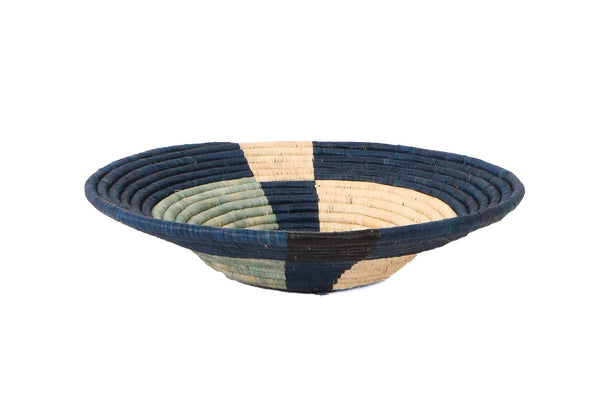 Cool Blue Basket Bowl