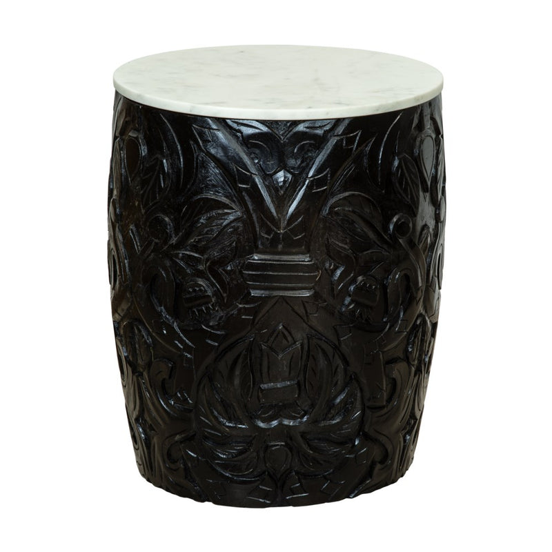 Black Mango Wood Side Table