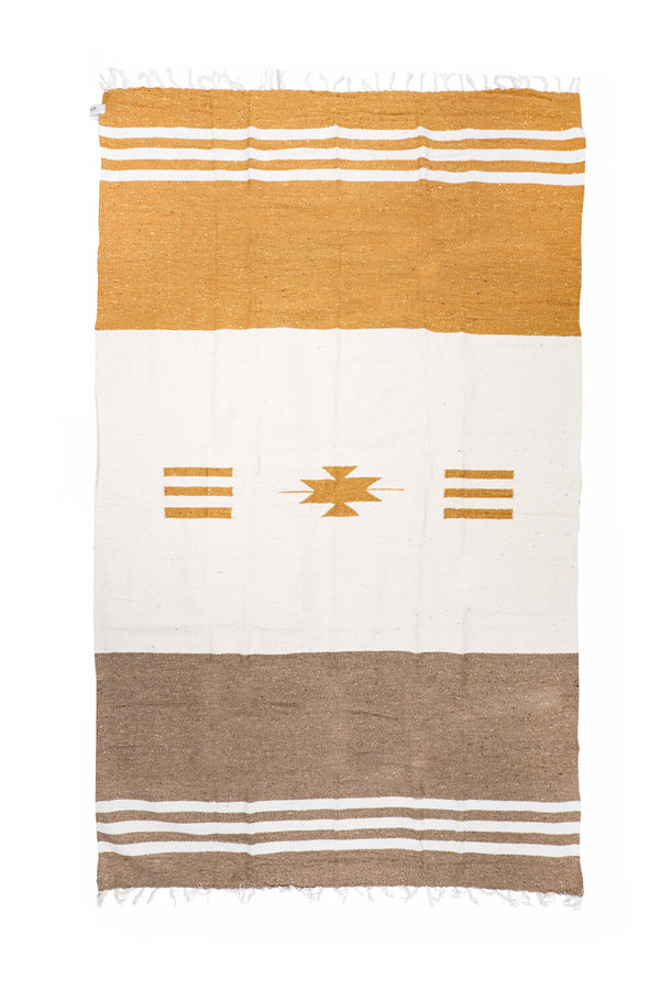 Sunny Horizon Travel Blanket