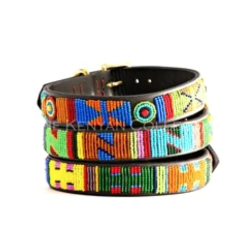 Hippo Beaded Dog Collar