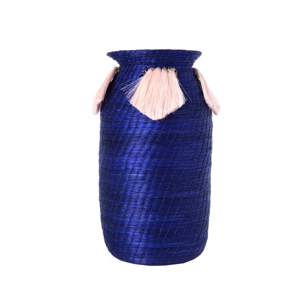 Mini Cobalt Fanned Decorative Vase