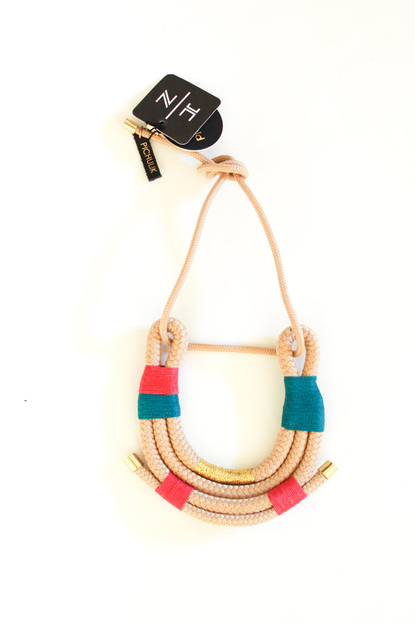 Beige 70s African Necklace