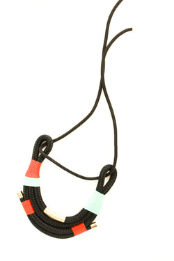 Black 70s African Necklace