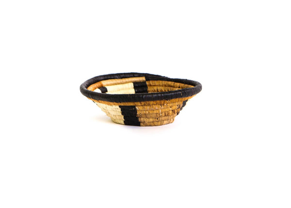 "6"" Abstract Brown Round Basket"