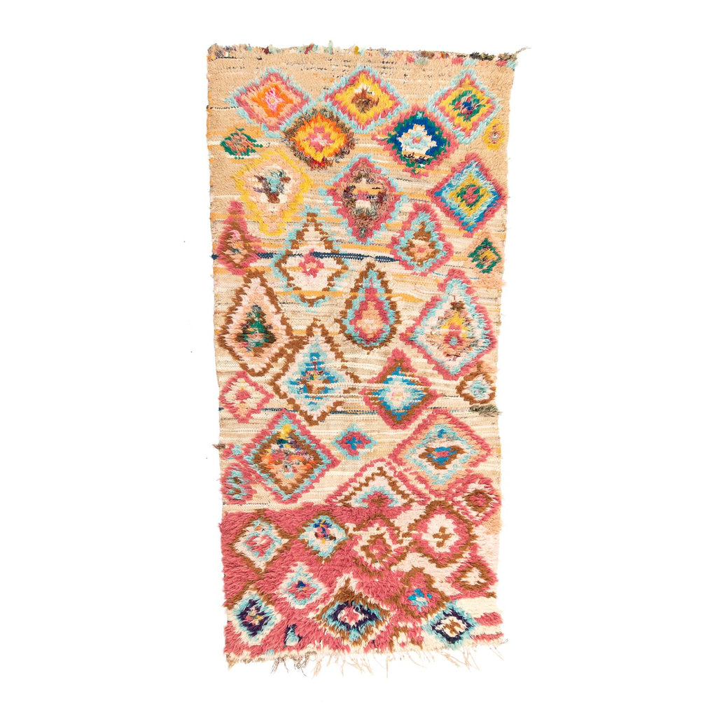 Rainbow Diamonds Moroccan Rug