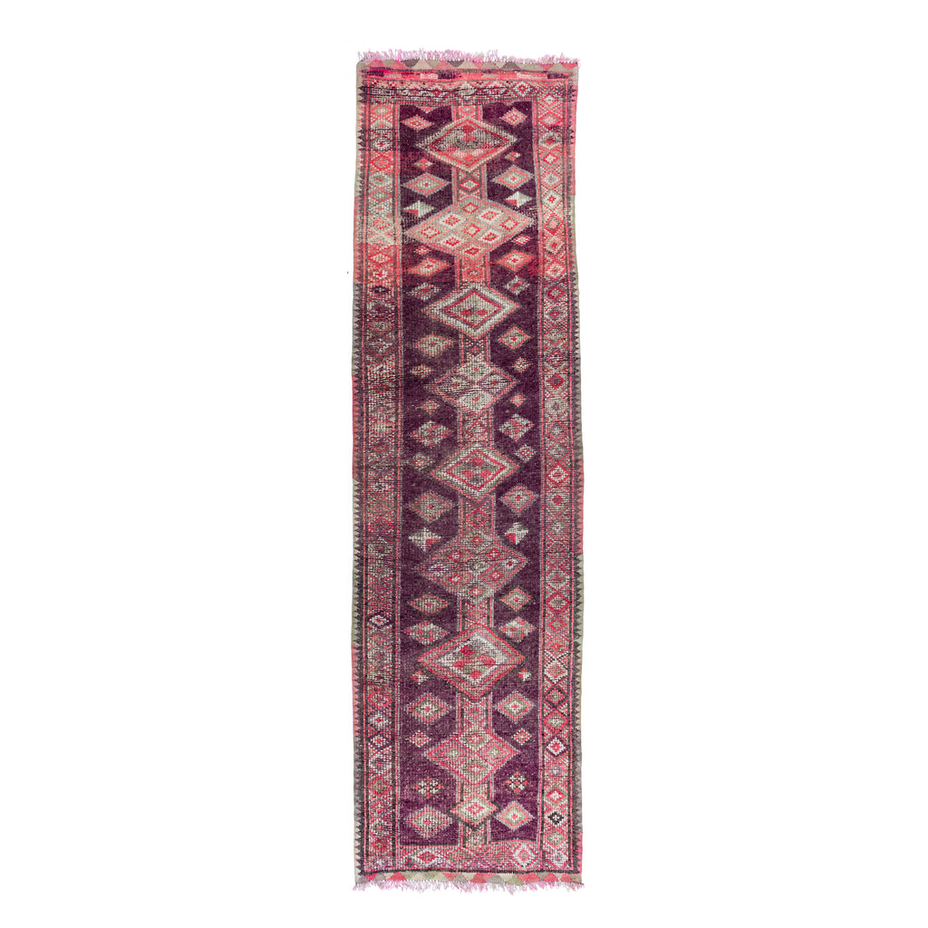 Purple and Pink Diamond Vintage Runner