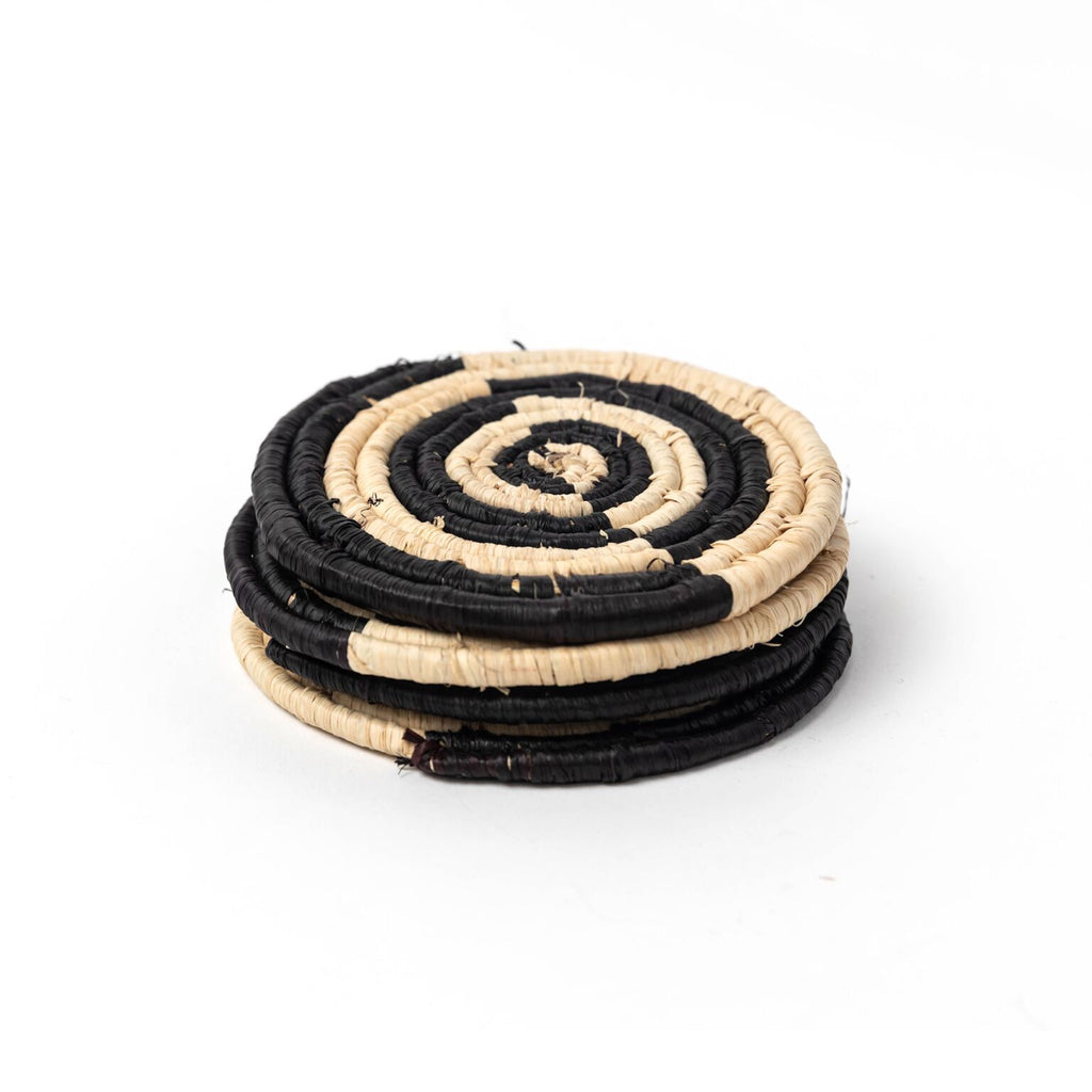 Rafia Coasters -Set of 4