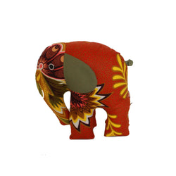 Burnt Orange Stuffed Elephant