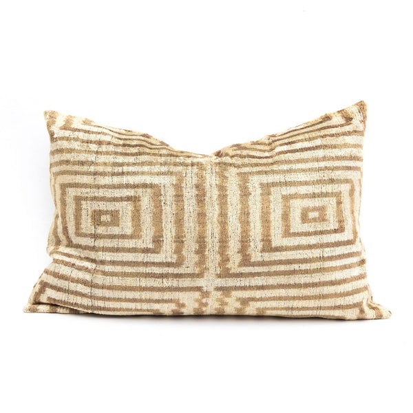 Squares Velvet/Silk Lumbar Pillow