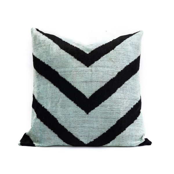 Sea Foam Velvet/Silk Euros Pillow