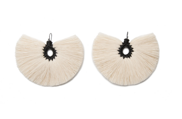 Black Penacho Earrings
