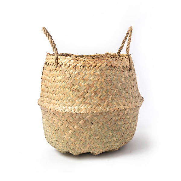 Medium Neutral Woven Basket