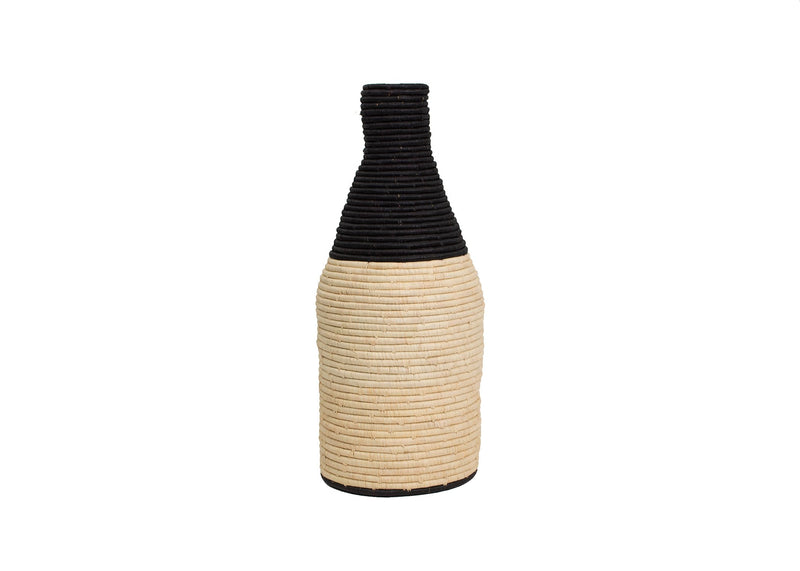 Black Malia Large Floor Vase