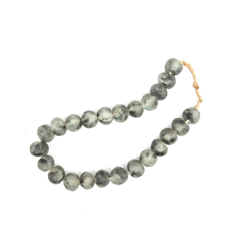 Large Charcoal Recycled Glass Styling Beads
