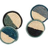 Color Block Dipped Coasters