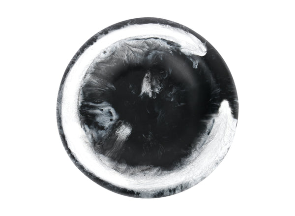 Black Marble Sloped Resin Dish