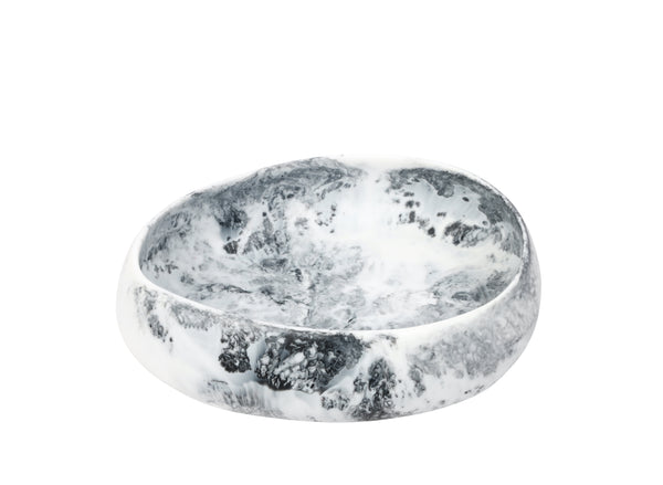 White Marble Resin Rock Bowl