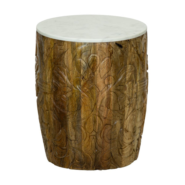 Natural Mango Wood Side Table